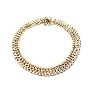 brede gouden heren armband