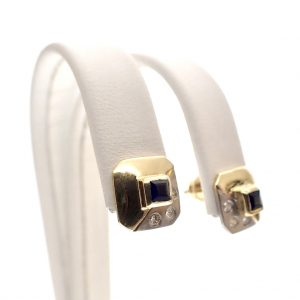Retro oorbellen goud