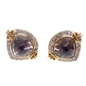 Gouden luxe oorbellen