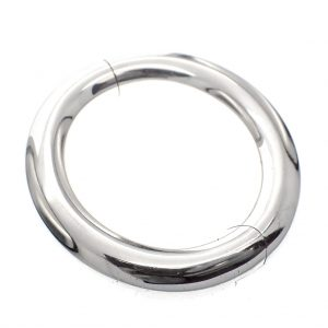 zilveren dikke armband