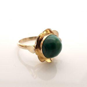 gouden ring met malachiet