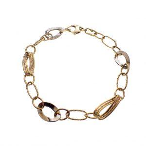 Gouden dames armband valentijn