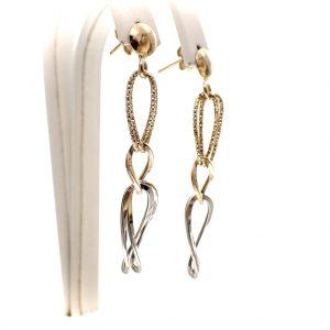 gouden lange oorbellen