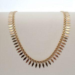gouden unieke dames collier