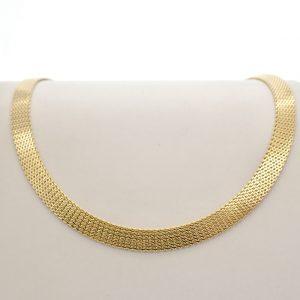brede gouden collier