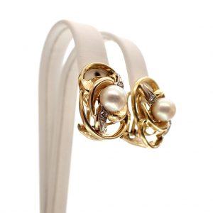 gouden grote oorclips