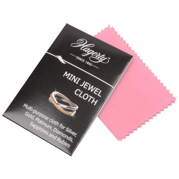 Kleine poetsdoek voor goud en zilver sieraden; Hagerty