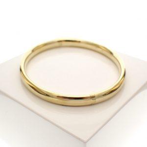gladde gouden armband