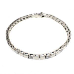 witgouden dames armband