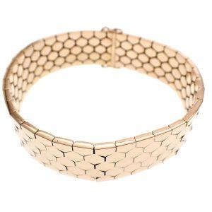 brede rosegouden armband