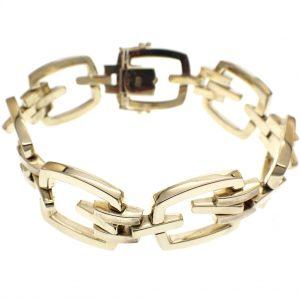 gouden brede armband dames
