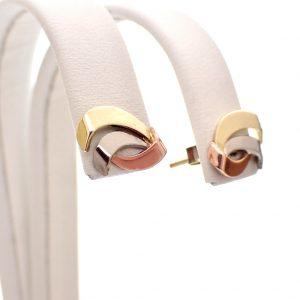 tricolor gouden oorstekers
