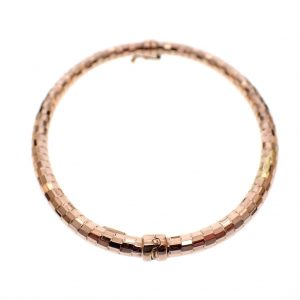 roségouden dames armband