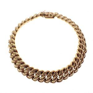 gouden franse gourmet armband goud