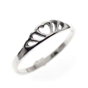 zilveren meisjes ring