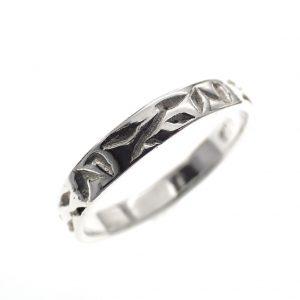 zilveren pink ring