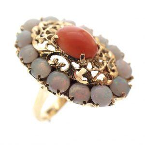 antieke gouden dames ring