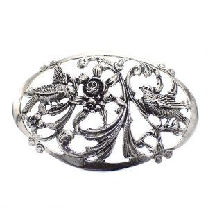 jugendstil broche zilver