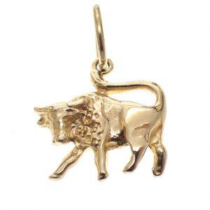 stier hanger goud
