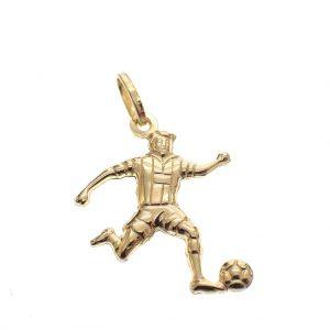 gouden voetballer hanger