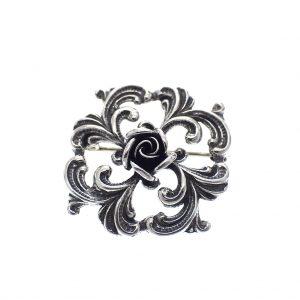 zilveren broche antiek