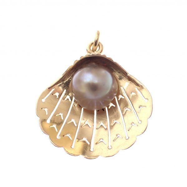 gouden hanger parel