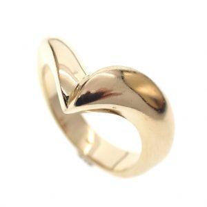 gouden v ring