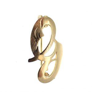 letter broche G goud