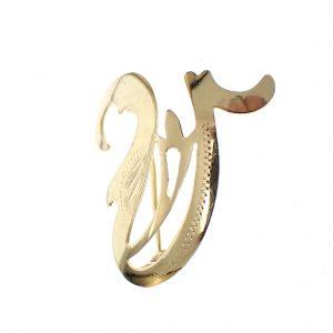 letter V broche goud