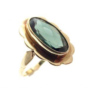 gouden ring toermalijn