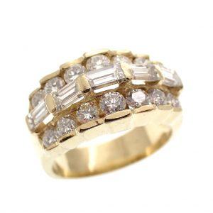 18k gouden ring diamanten