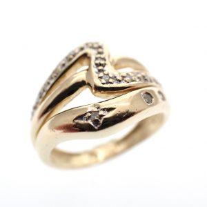 kleine dames ring goud