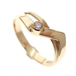 dames ring goud met briljant