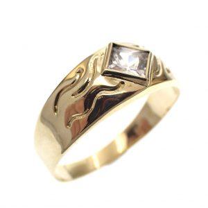 gouden vintage heren ring