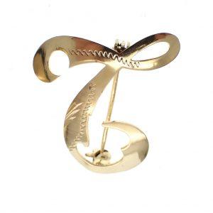 Gouden letter broche l