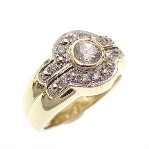 diamanten pink ring goud