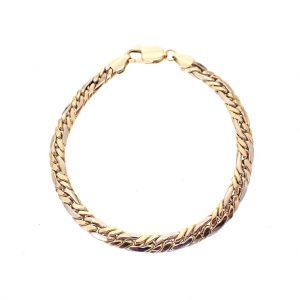 bicolour heren armband goud