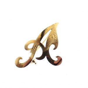 letter a broche goud