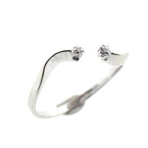 witgouden dames ring