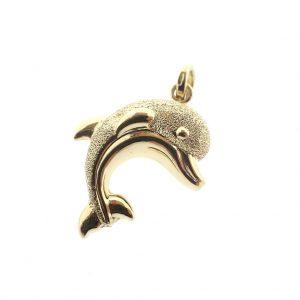 18 k dolfijn hanger
