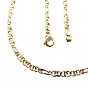 bicolor gouden heren ketting