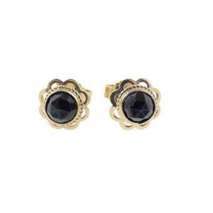 vintage oorstekers goud