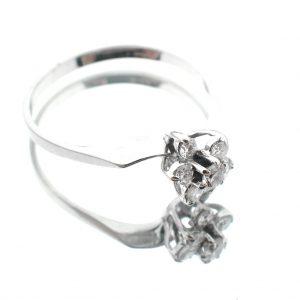 witgouden dames ring diamanten