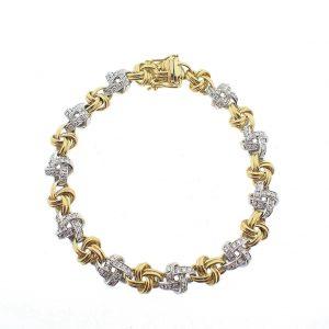 Bicolor diamanten armband