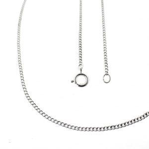 zilveren lange ketting zonder hanger