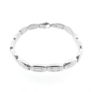 mat zilveren armband