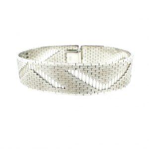 Zilveren brede armband dames