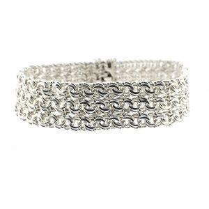 zilveren vintage armband breed