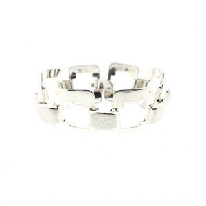 brede zilveren dames armband
