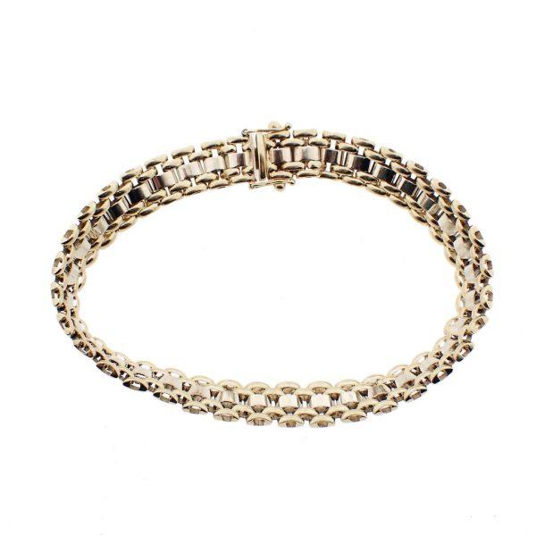Bicolor gouden armband dames
